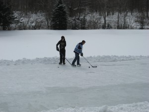Damen and Tallon Pond Hockey