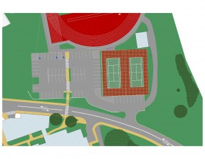 Property Vote tennis court rendering